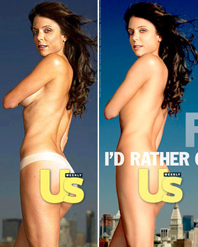 bethenny frankel would rather be airbrushed than wear fur