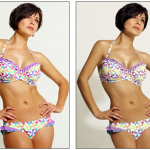 Debenhams shows that Photoshop is not necessary as is illustrated in the non-Photoshopped model on the left as compared to the Photoshopped model on the right.