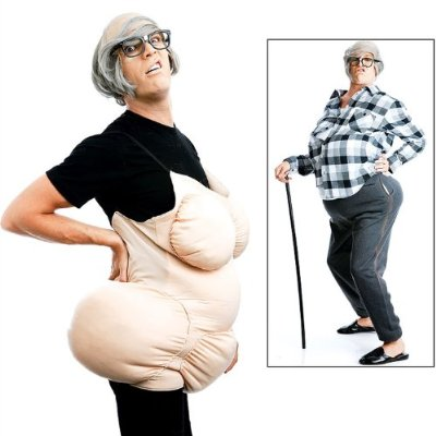 Be the life of the party and the butt of the joke in this  offensive costume.