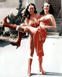 Jeannie Epper and Lynda Carter