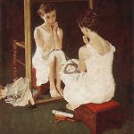 "Norman Rockwell's ""Girl at the Mirror"""