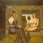 """Mirror"" by Paul Delvaux"
