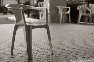 empty chair by Rainier Calderon