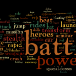 Most used words in ads for boy toys. (courtesy of Achilles Effect)