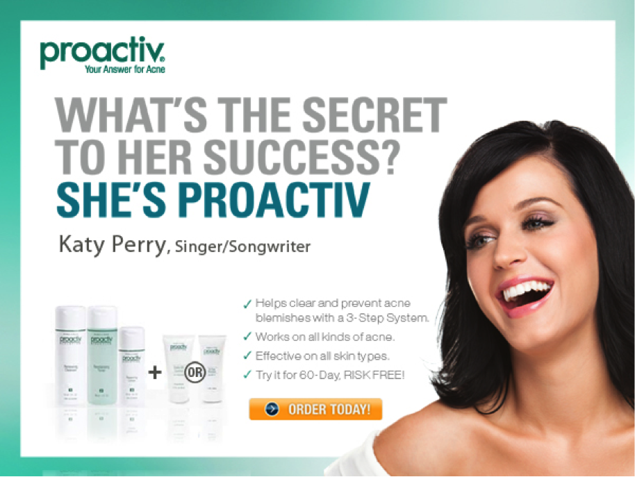 A Proactiv ad that drives home society's point that clear skin equals happiness