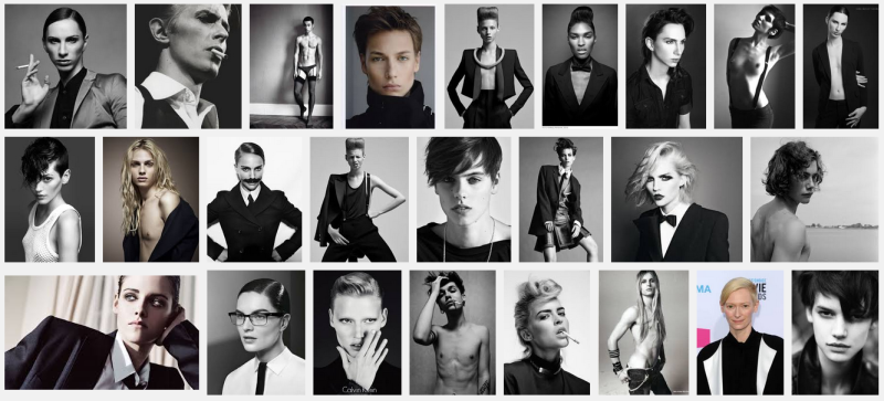 """A simple Google image search for """"Androgny"""" tells us who is allowed to be androgynous and who is not."""