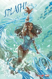 Simone Manuel Re-imagined as Superhero for (Marvel/espnW)